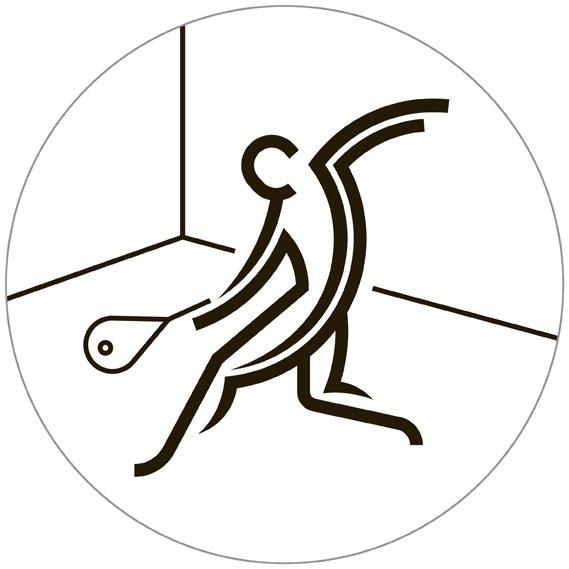 squash - i pittogrammi di Glasgow 2014 su designplayground.it