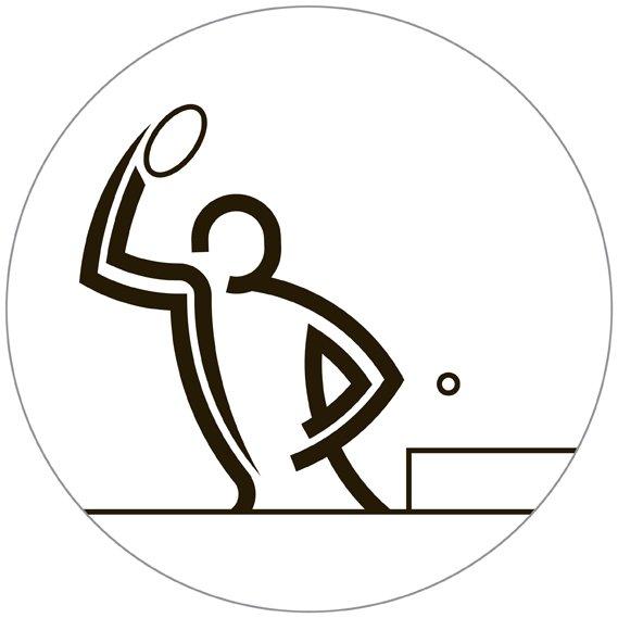tennis tavolo - i pittogrammi di Glasgow 2014 su designplayground.it