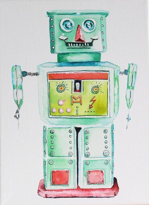 MH 2011, water colur, canvas, 23,5x18 cm
