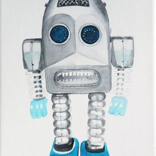 Friend 2011, water colour, canvas, 23,5x18 cm