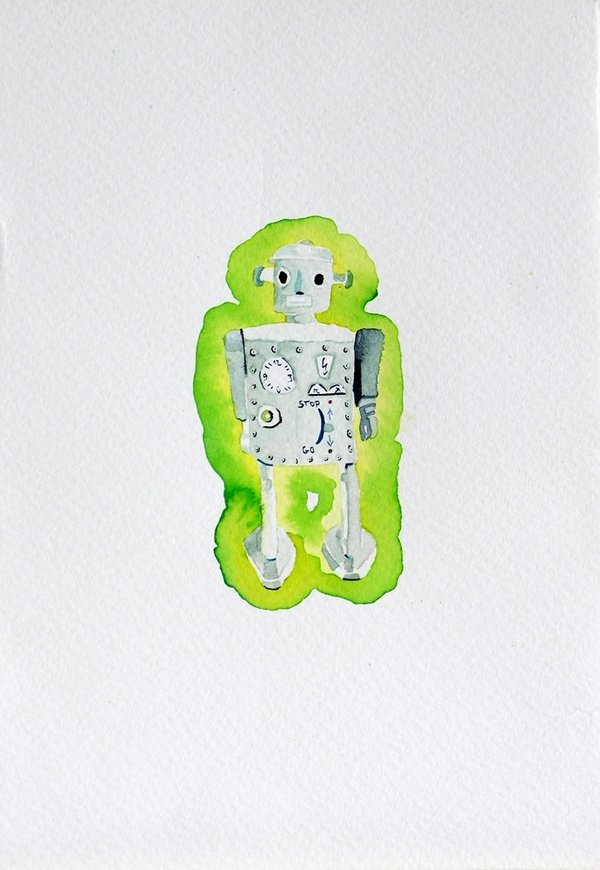 The healer 2011, water colour, 18x12 cm