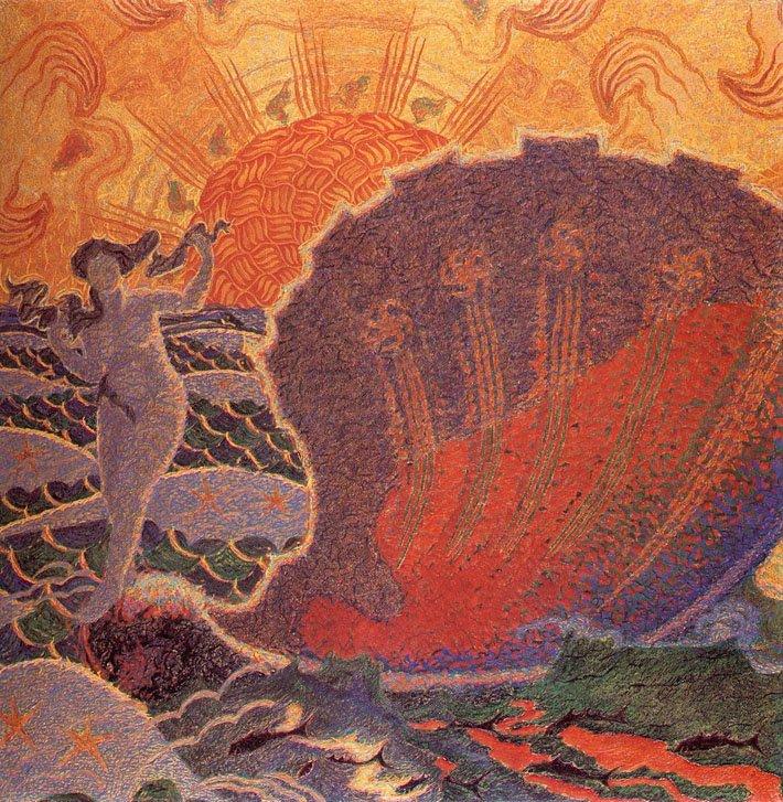 Benvenuto Benvenuti: La nascita di Venere, 1907, olio su tela