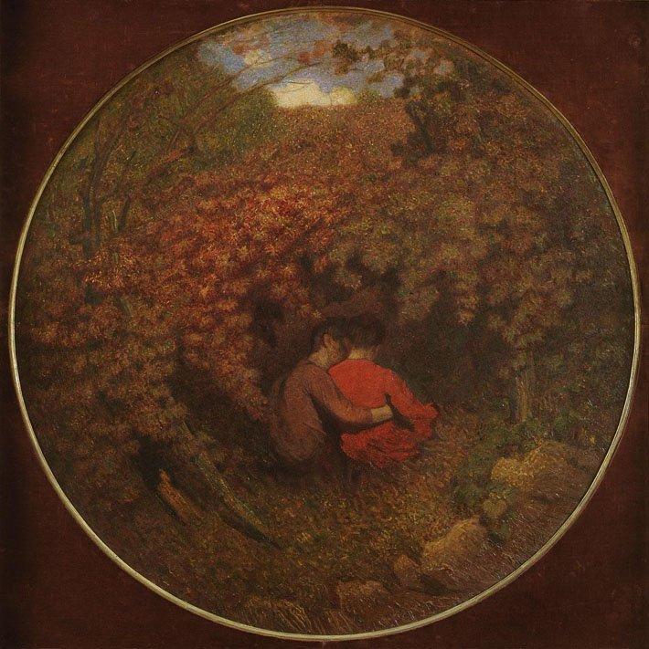 Giuseppe Pellizza da Volpedo: L'amore nella vita, olio su tela, 1900, Galleria d'Arte Moderna e Contemporanea , Torino