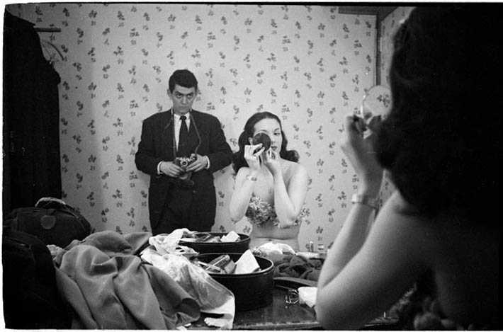 Self portrait with showgirl Rosemary Williams 1948