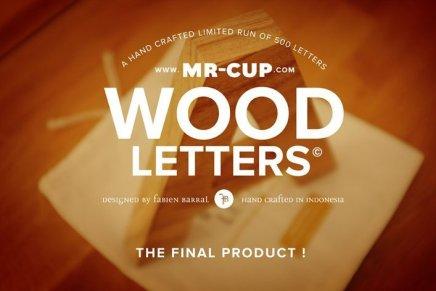 Wood Letters Helvetica, Mr-Cup (Fabien Barral)