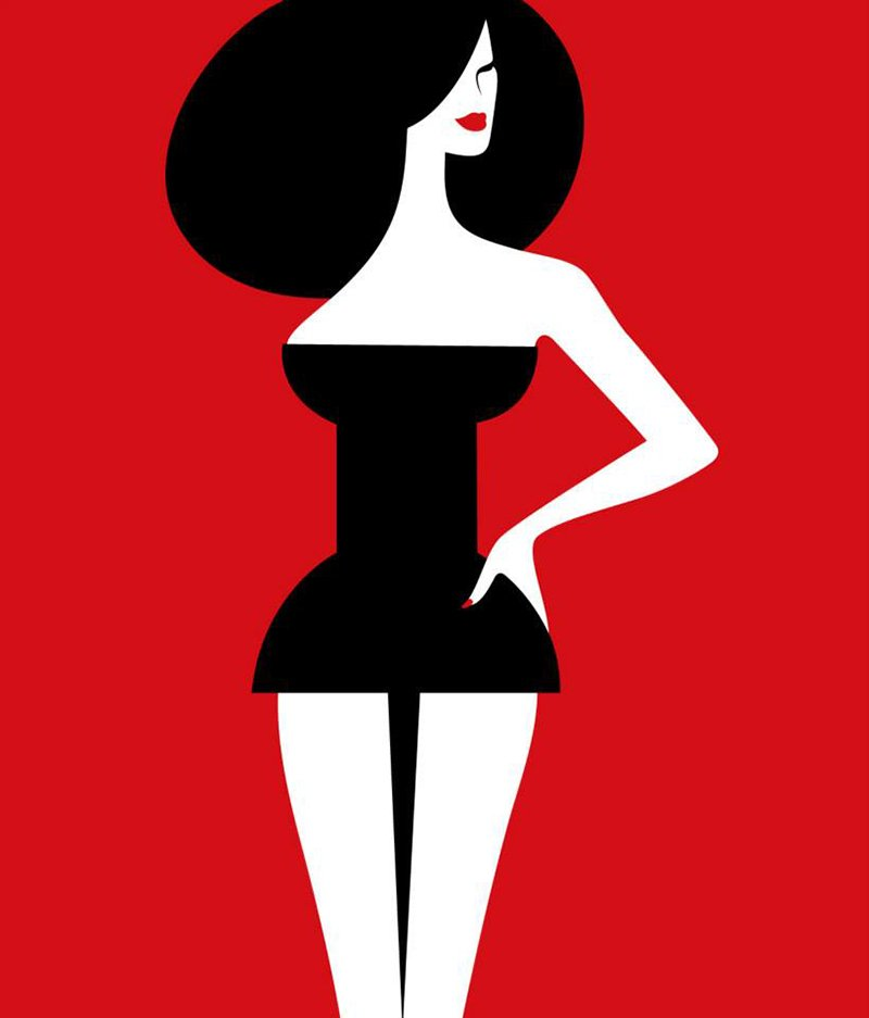 Pin up by Noma Bar for GQ France