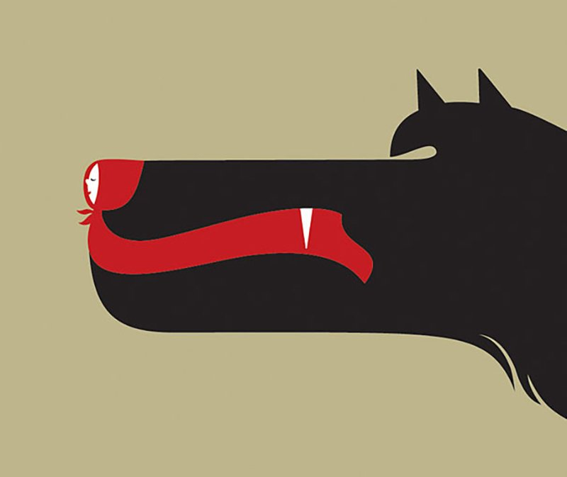 Red Riding Hood by Noma Bar