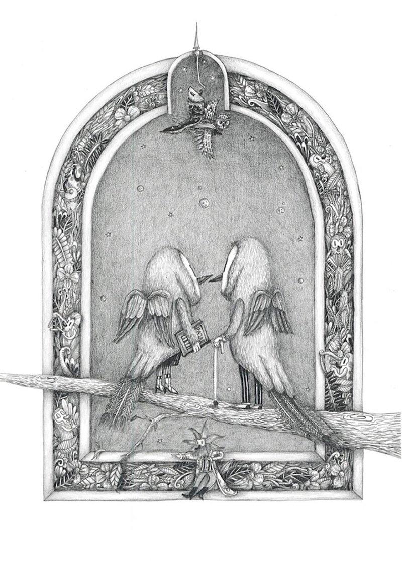 © Fito Holloway, Illustrazione per il libro Pájaros