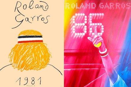 I manifesti del Roland Garros dal 1980