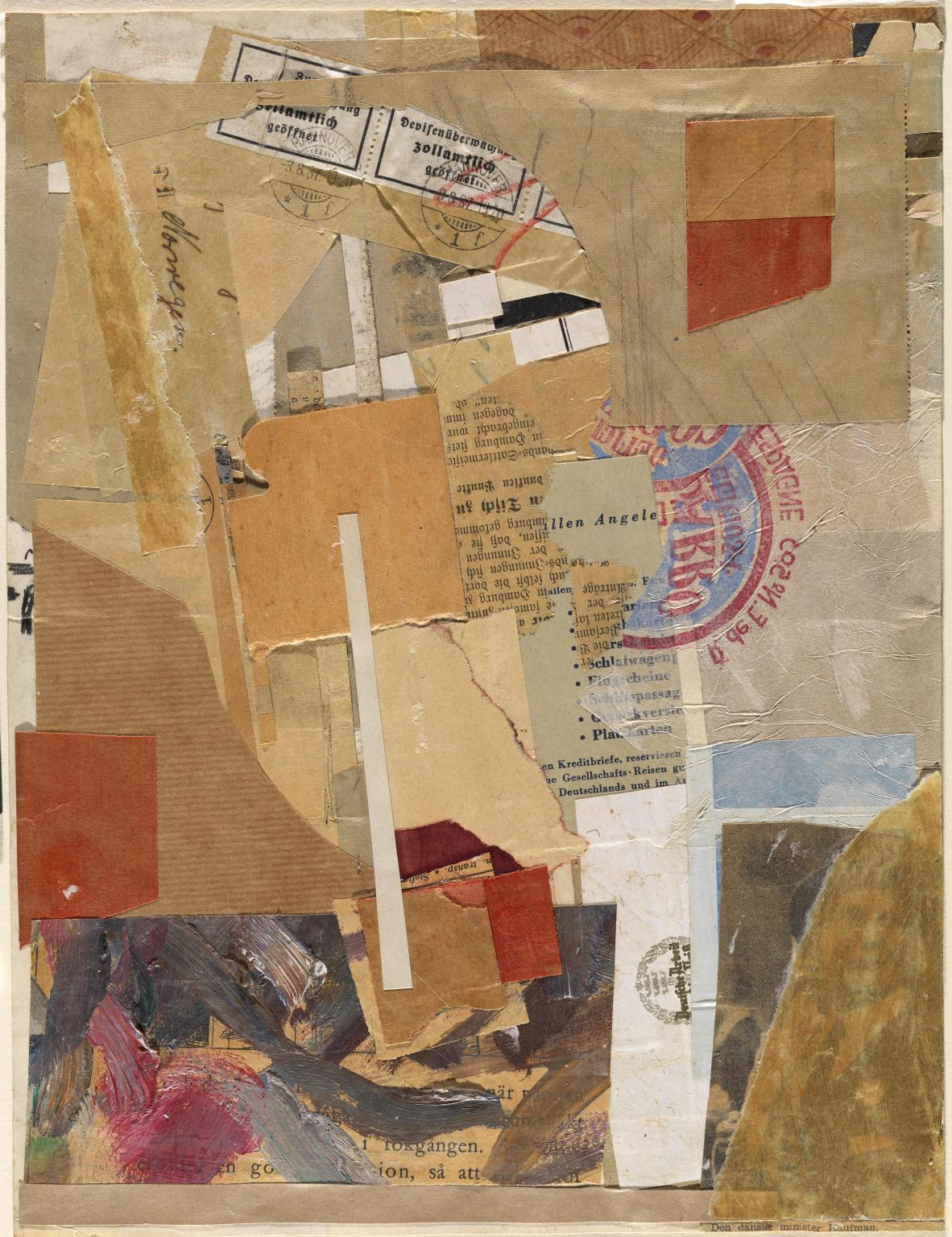 Opened by Customs 1937-8 Kurt Schwitters 1887-1948 Purchased 1958 http://www.tate.org.uk/art/work/T00214