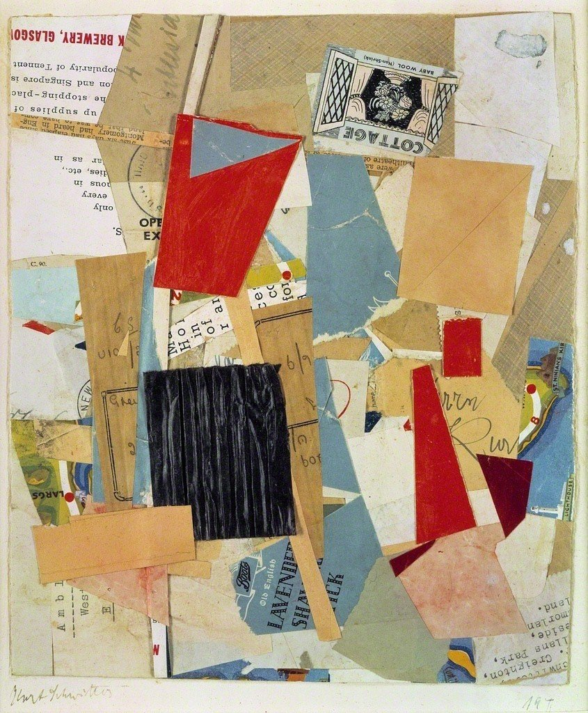 Cottage. 1946. Paper Collage, 25.5 x 21.2 cm. Inv. F. V. 155. Photo: Joerg P. Anders.