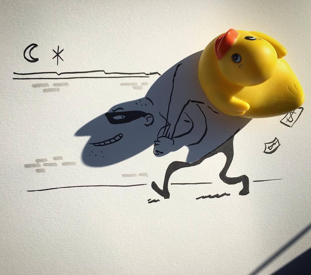 Le illustrazioni di Vincent Bal tra luce e ombra.