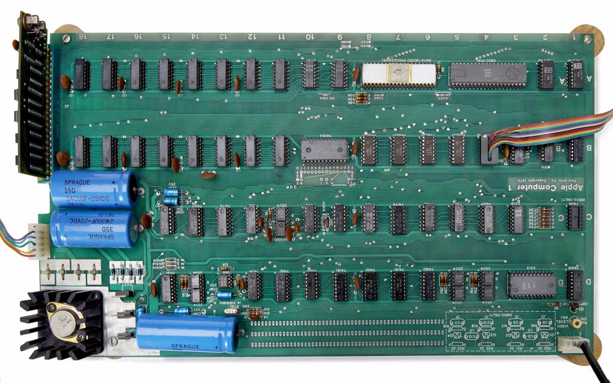 1976 - Apple Computer 1 Motherboard by Apple