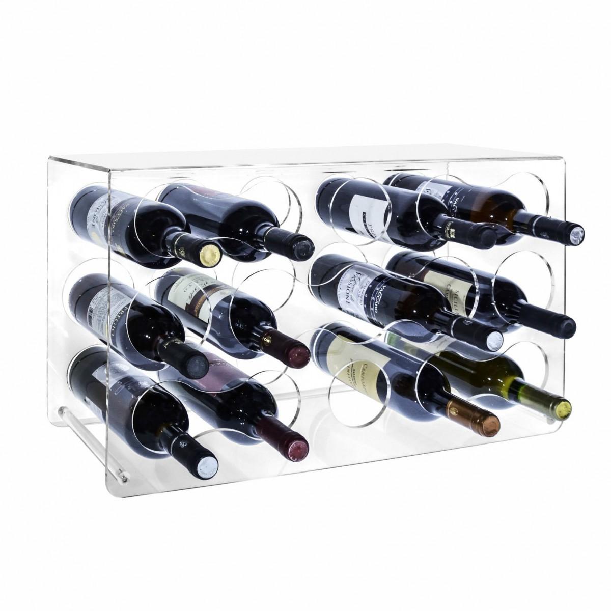 15 bottle clear acrylic wine rack