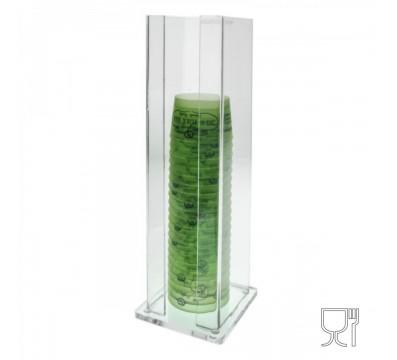 presentoir plexi pour pots a glace en carton ou plastique h 45 cm