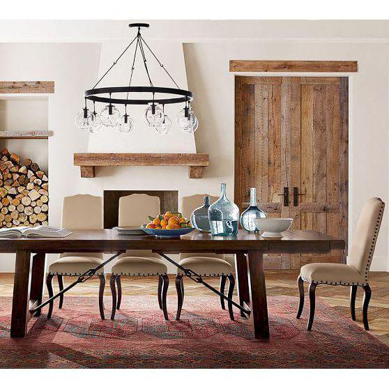 pottery barn benchwright dining table
