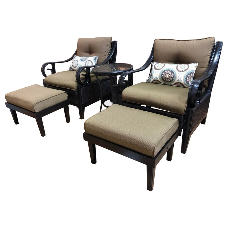 pair of lazy boy patio chairs