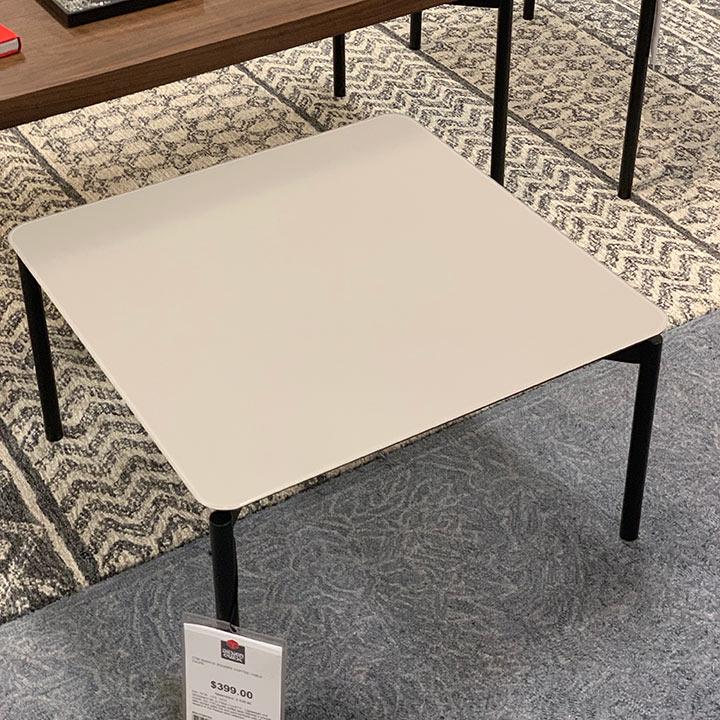 clearance bdi radius 1730 square coffee table taupe