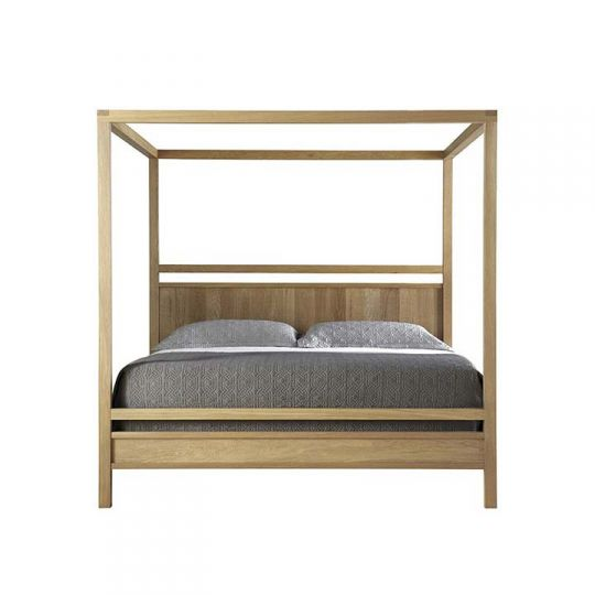 west bros fulton bedroom poster canopy bed with wood panel headboard