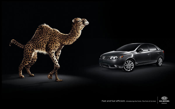 Fast and fuel efficient. Introducing the Forte. The first of its kind Print Ad