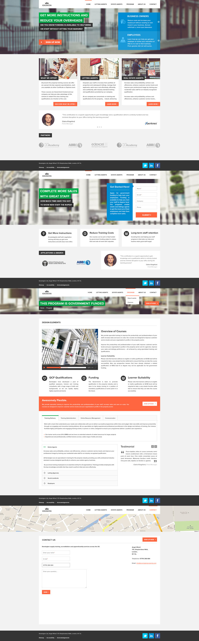 Estate and Lettings Agents Flat Web Design Inspiration
