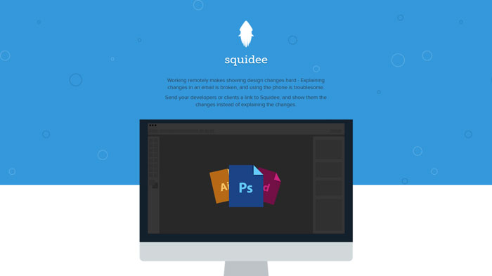 squidee.co Flat Web Design Inspiration