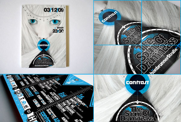 Contrast poster and flyer Print Design Inspiration