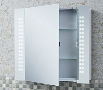 LED Illuminated Bathroom Mirrors With DeMister