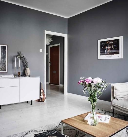 grau weisses zimmer ideen f r die wohnraumgestaltung. Black Bedroom Furniture Sets. Home Design Ideas