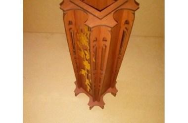 Laser Cut Wooden Vase cdr