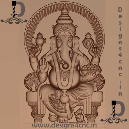 ART CAM RLF GOD GANESHA 3D CAD FILE