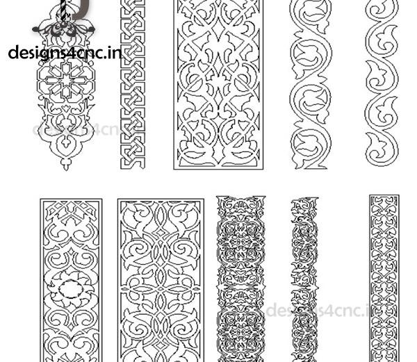 CNC door design free vector file