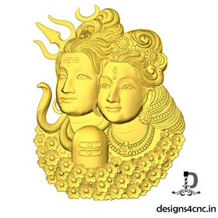 Shivji Parvati Artcam 3d model download