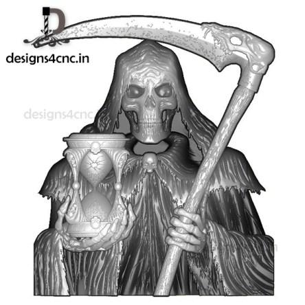 DEATH SKULL 3D MODEL FILE FOR FREE