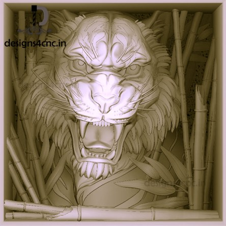 tiger 3d view ARTCAM FILE FOR FREE