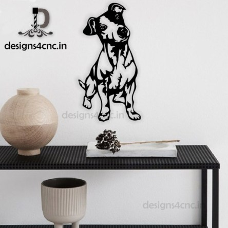 dog vector black and white wall art
