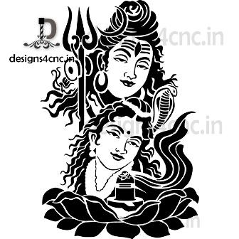shiva painting vector cutting design