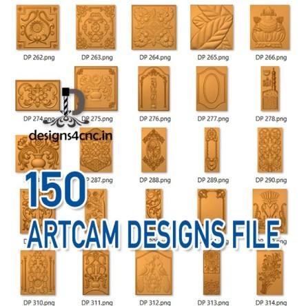 150+ ARTCAM 3D PANELS COLLECTION FILE