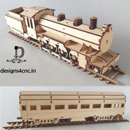 MDF toy train to darjeeling vector file