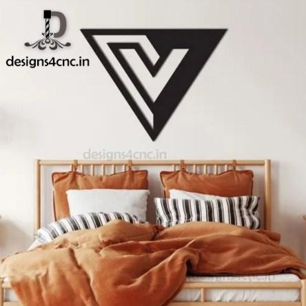 v logo design Wall Decor From Wood Decorative