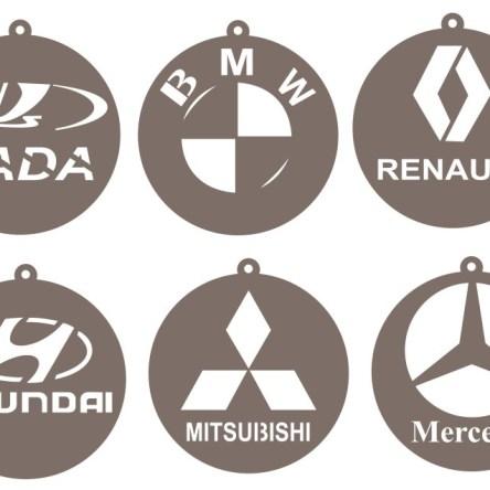 car logos for bmw  renault  hyundai  mercedes
