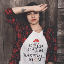 Keep Calm Baseball Mom Sports T-Shirt Design