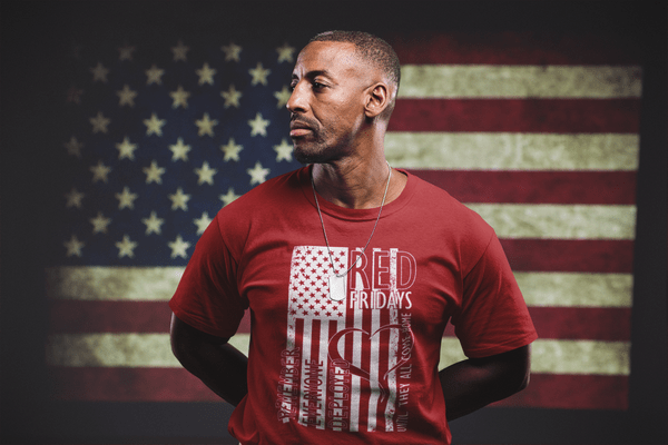 RED Friday shirts American FLAG US Military Support T-Shirt Design | Wear red on Fridays to support our troops!