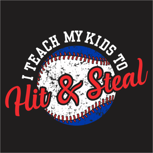 Hit and Steal Baseball Shirt Ready-to-Print T-Shirt Design