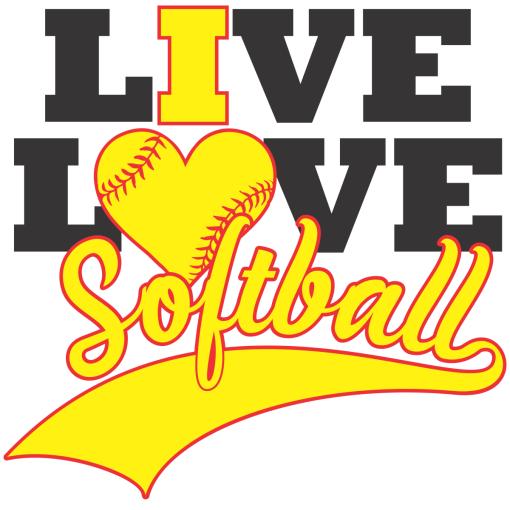 Live I Love Softball Shirts | Sports T-Shirt Design