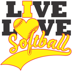 Live I Love Softball Shirts | Sports T-Shirt Design