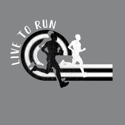 Live to Run Boys Running T Shirt | Track & Field Running T-Shirt Design