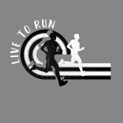 Live to Run Boys Running T Shirt | Track & Field Running T-Shirt Design