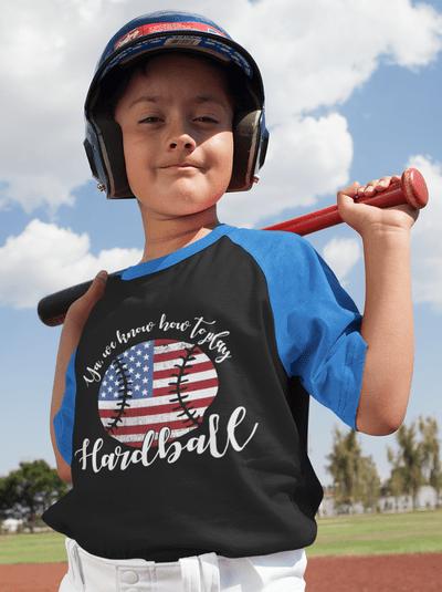 Patriotic Baseball USA America Play Hardball T-shirt Design