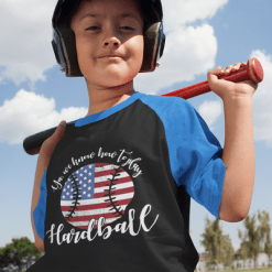 Patriotic Baseball USA America Play Hardball T-shirt Design